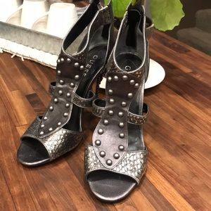 Guess Silver Studded Gladiator Heels, 7